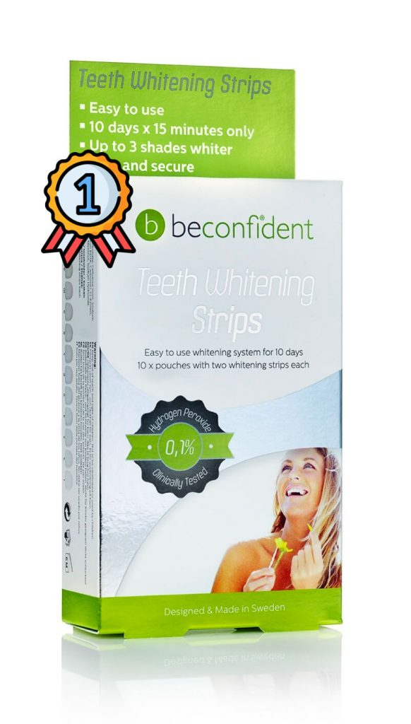 Be confident whitening strips