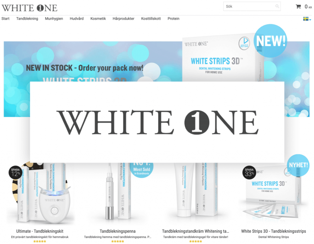 White One tandblekning logo