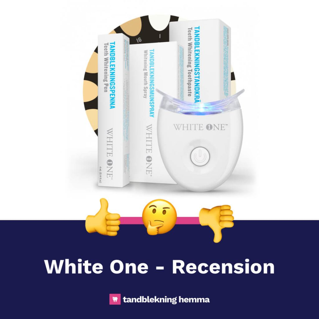 White one tandblekning recension