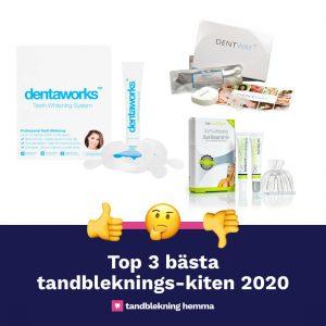 3 bästa tandbleknings-kiten 2020