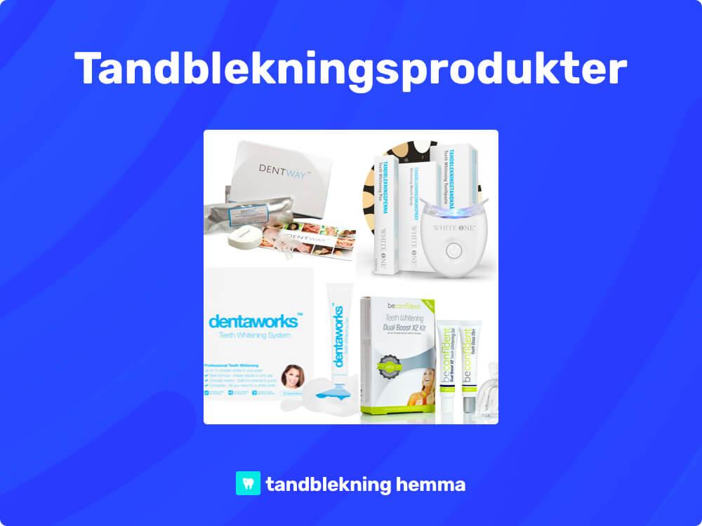Tandblekning hemma tandblekningsprodukter