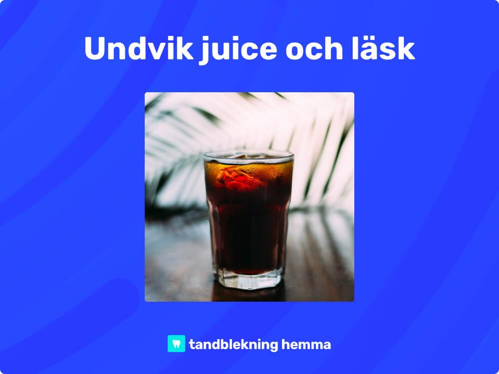 Tandblekning hemma undvik juice