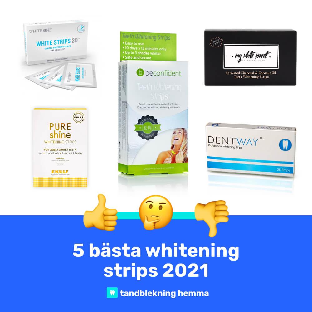 Whitening strips bäst i test 2021